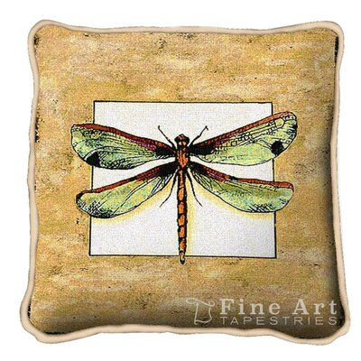 Butterfly Dragonfly I Throw Pillow