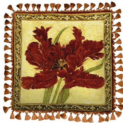 Fire Tulip Cotton Throw Pillow