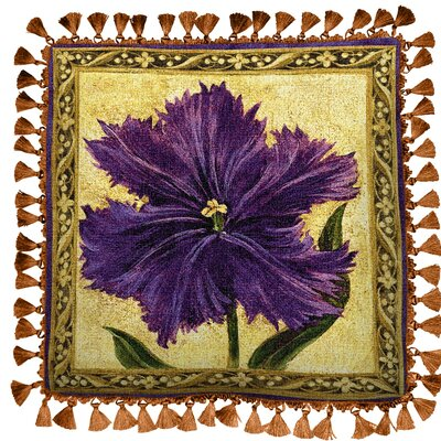 Tulip Unveiled I Cotton Throw Pillow