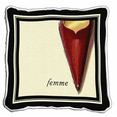 Femme Stiletto Throw Pillow