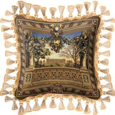 Le Chateau de Monceau Throw Pillow