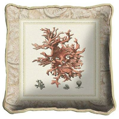 Coral II Throw Pillow