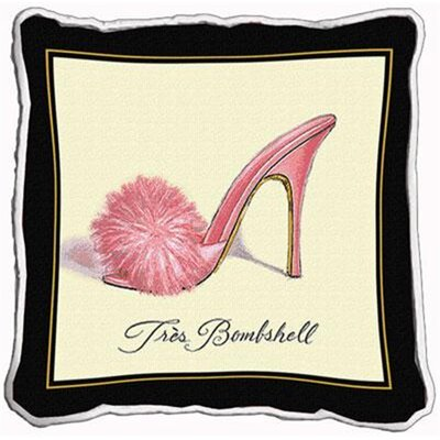 Tres Bombshell Throw Pillow