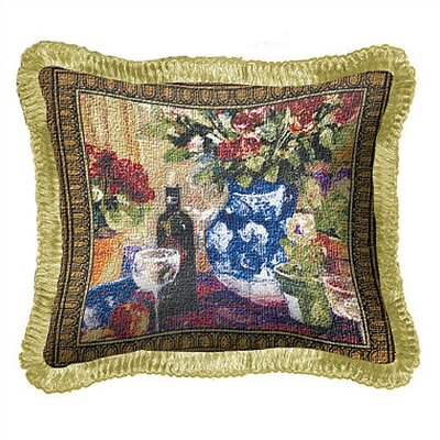 Roses with Wine Throw Pillow