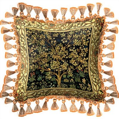 Furniture-Tree of Life Midnight Throw Pillow