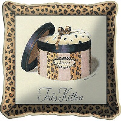Tres Kitten Throw Pillow