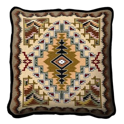 Southwest Painted Hills Throw Pillow Color: Sand