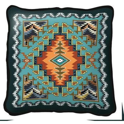 Southwest Painted Hills Throw Pillow Color: Sky
