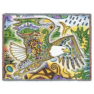 Bald Eagle Cotton Blanket