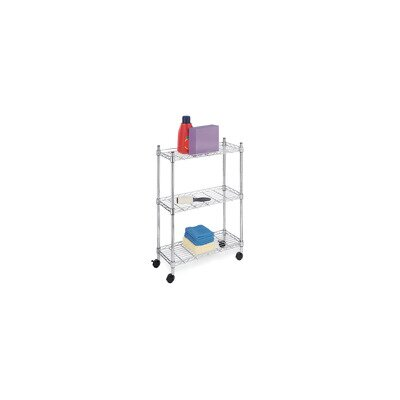 Three Tier Supreme Laundry Cart in Chrome