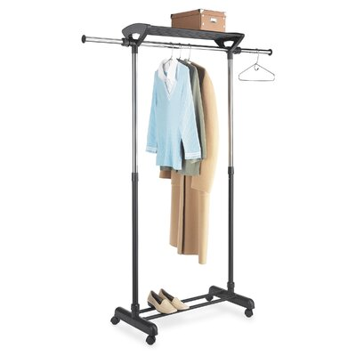 Garment Rack with Top Shelf in Chrome