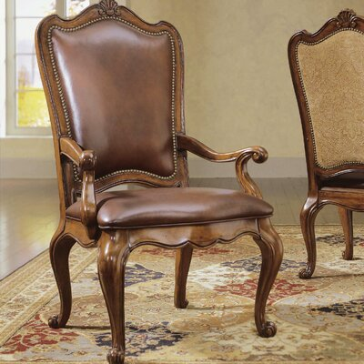 Villa Cortina Side Chair (Set of 2) Upholstery: Leather - Rich Brown