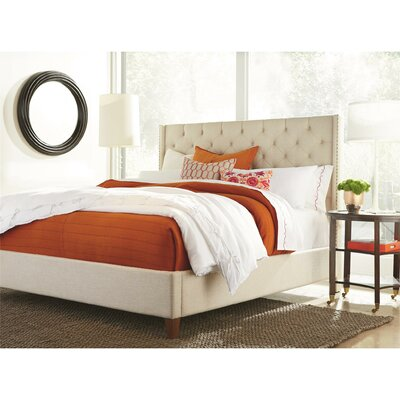 Paula King Upholstered Panel Bed