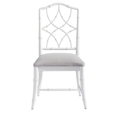 Viet Upholstered Dining Chair (Set of 2) Frame Color: White