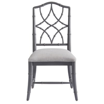 Viet Upholstered Dining Chair (Set of 2) Frame Color: Gray