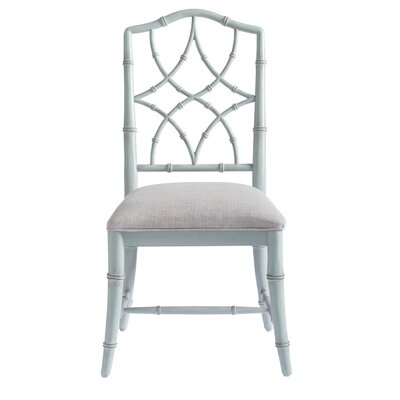 Viet Upholstered Dining Chair (Set of 2) Frame Color: Blue