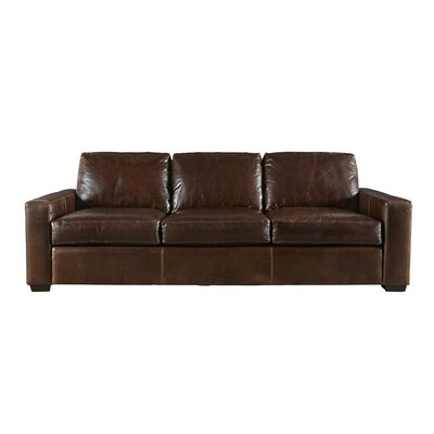 Dansville Three Seat Full Top Grain Leather Sofa Upholstery: Brown