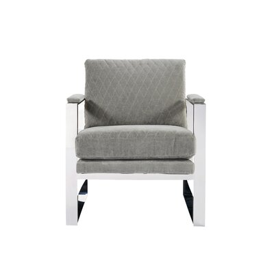 Meggan Modern Stainless Steel Arm Chair