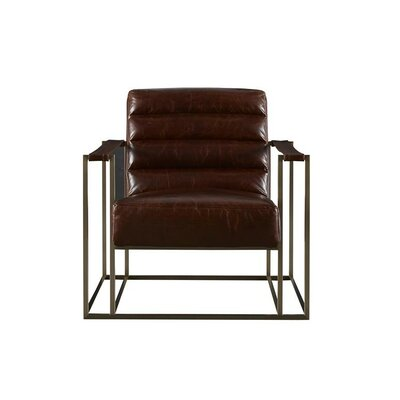 Staley Arm Chair Upholstery: Brompton Brown