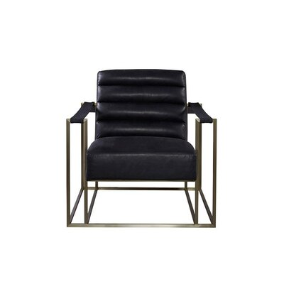 Staley Arm Chair Upholstery: Burnham Black
