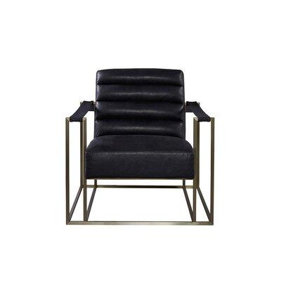 Staley Arm Chair Upholstery: Burnham Black