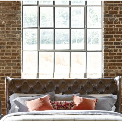 Devere Upholstered Wingback Headboard Size: King