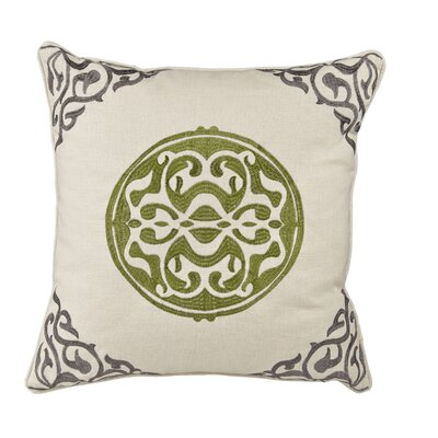 Behling Medallion Throw Pillow Color: Gray/Gree