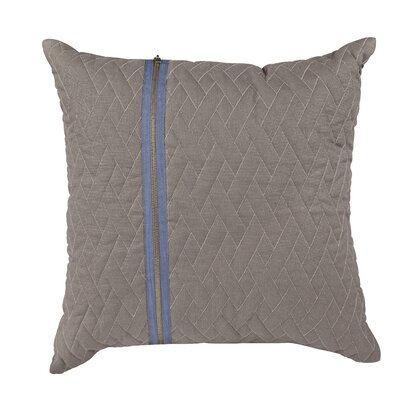 Earhart Zip Throw Pillow Color: Gray/Blue