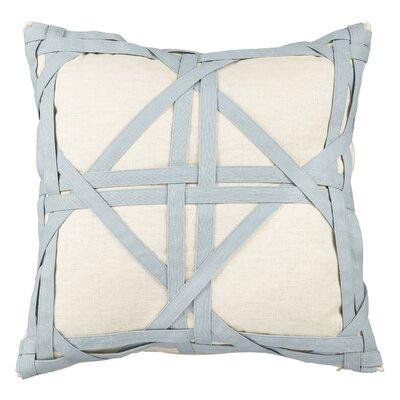 Kimawati Weave Throw Pillow Color: Blue
