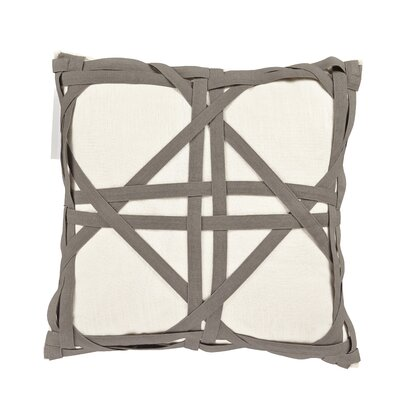 Kimawati Weave Throw Pillow Color: Gray