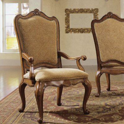 Villa Cortina Arm Chair (Set of 2) Upholstery: Fabric - Tan Pattern