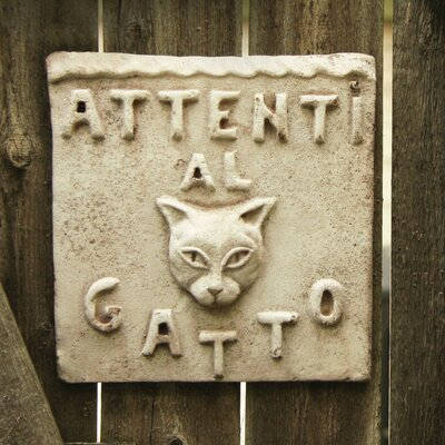 Animals Beware of Cat Plaque Wall Decor