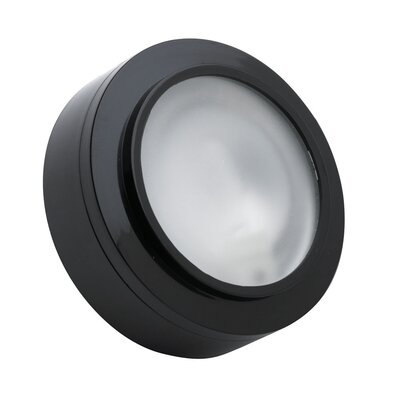 Xenon Under Cabinet Puck Light Finish: Black