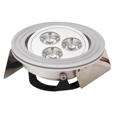 LED Recessed Individual Spotlight Finish: Brushed Aluminum