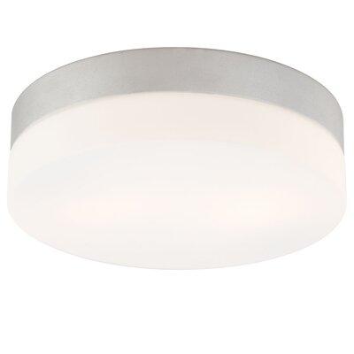 Disc Medium 2 Light Flush Mount Finish: Metallic Grey FM1025-10-95