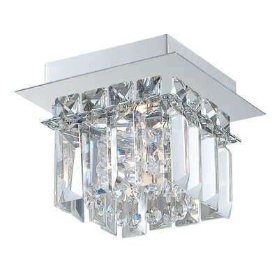 Crown 1-Light Flush Mount