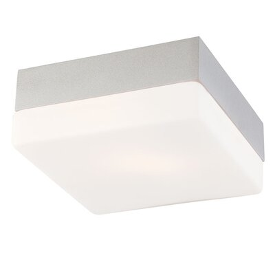 Quad Mini 1-Light Flush Mount Finish: Metallic Grey