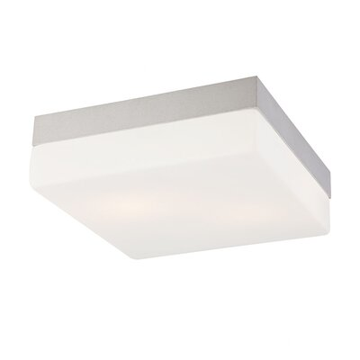 Quad Grande 2-Light Flush Mount Finish: Metallic Grey