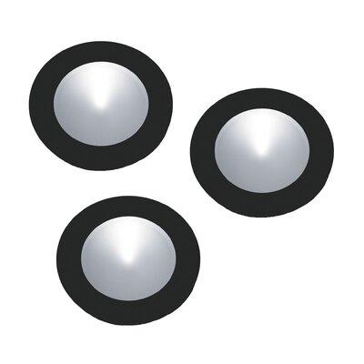 Polaris LED Under Cabinet Recessed Light Finish: Black