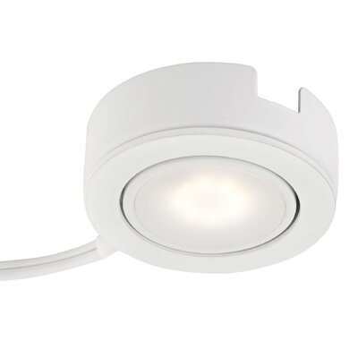 Tuxedo Swivel LED Under Cabinet Puck Light Finish: White