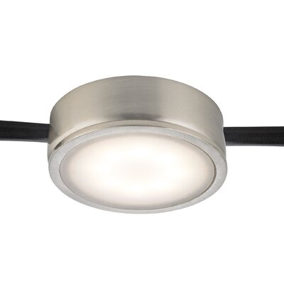 Tuxedo LED Under Cabinet Puck Light Finish: Satin Nickel