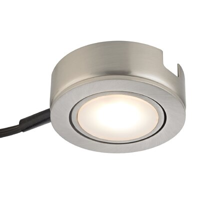 Tuxedo Swivel LED Under Cabinet Puck Light Finish: Satin Nickel