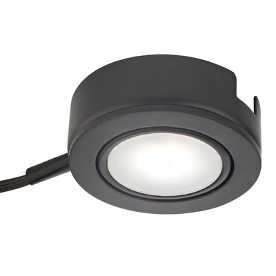 Tuxedo Swivel LED Under Cabinet Puck Light Finish: Black
