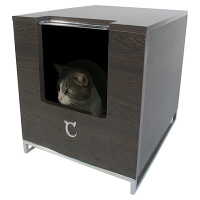 Hider Cat Litter Box Color: Brown