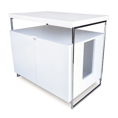 Elisabeth Large Cat Litter Box Enclosure Finish: White