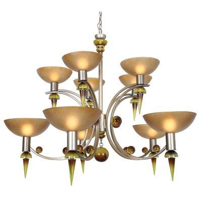 Ambrosia Melissa 10-Light Shaded Chandelier
