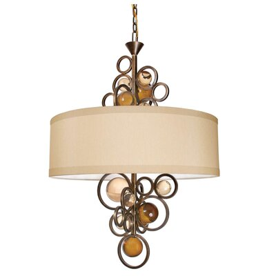 Free Wheeling La Folie 6-Light Drum Chandelier