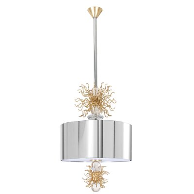 Burst Trickle 2-Light Drum Pendant