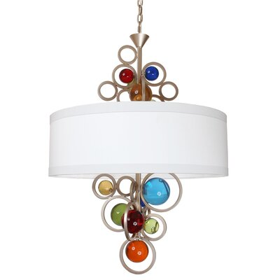Lauver 6-Light Drum Chandelier