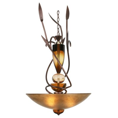 Almost Autumn Exceptional 3-Light Candle-Style Chandelier